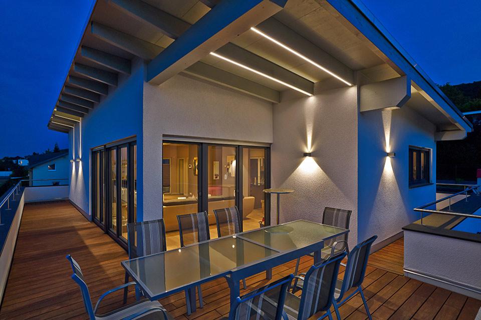 Architekturfotografie: Dachterrasse | Fotostudio Lhotzky